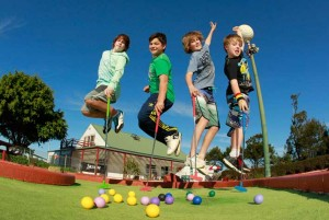 Mini golf party for kids